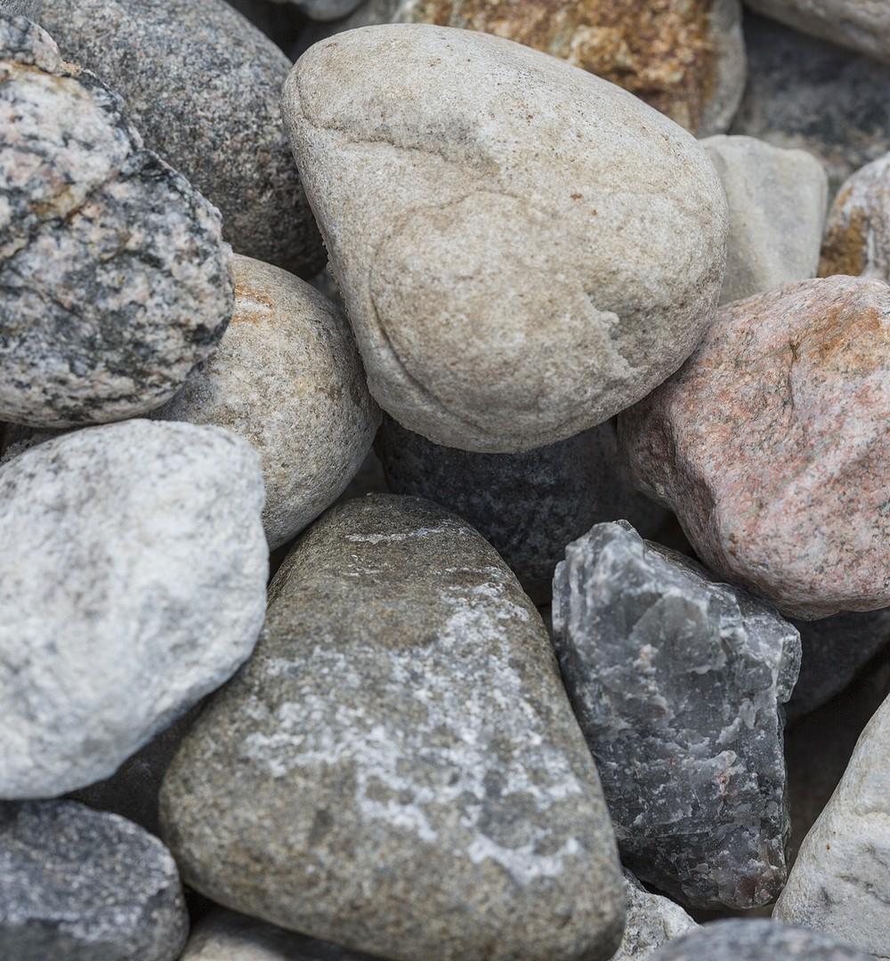 Brown River Rocks Large Gravel | Landscape Design & Supply ... |Oversized River Gravel