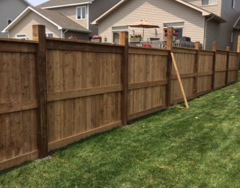 gate property fence install