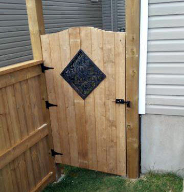 gate fence door install