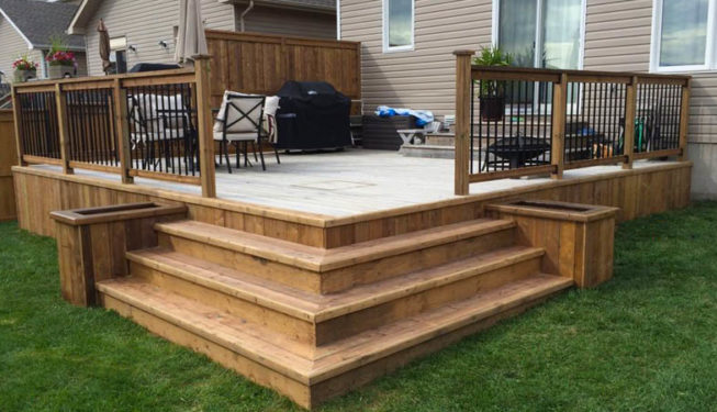 deck railing fence installation service