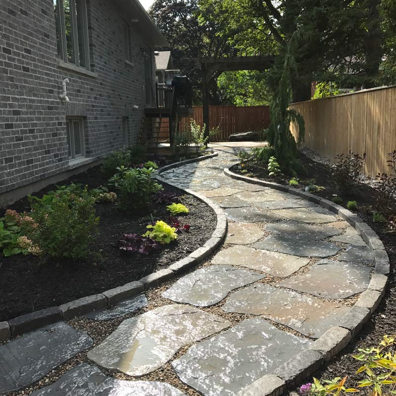 hardscapes stone and brick walkways